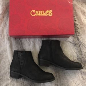 Carlos Santana black ankle boot booties size 6 New